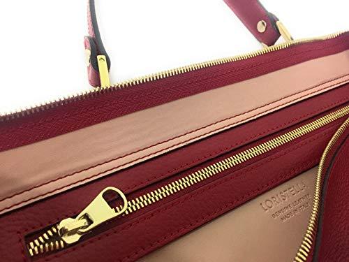 Loristella kvinnors topphandtag väska röd röd L