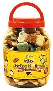 Pet Center Dpc88044 44-Ounce Natural Giant Chicken Wrapped Dog Biscuits, Large