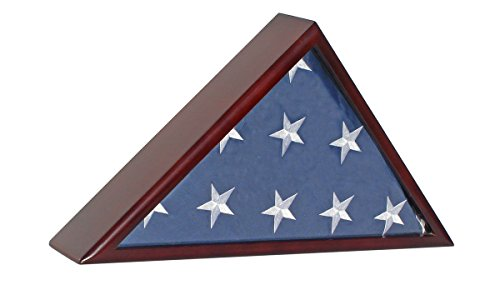 Solid Wood Memorial Flag Display Case For Funeral/Casket 5'X9.5' Flag by Display Case