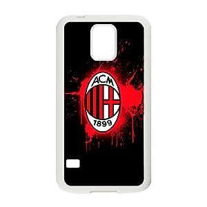 Ac Milan Futbol Funda Samsung Galaxy S5 teléfono celular de la caja de plástico blanco personalizado Funda caja del teléfono K2P8VL