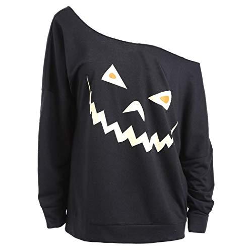iOPQO Halloween Sweater for Woman, Long Sleeve Ghost