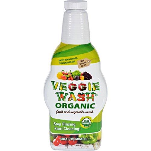 (Veggie Wash Organic Fruit and Vegetable Wash Soaker, 32 Fluid Ounce )