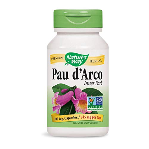 Nature's Way Pau D'Arco Inner Bark Capsules, 545mg, 100-Count (12 Hour Natural Cure For Yeast Infection)