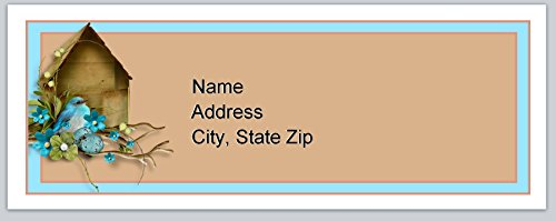 (120 Personalized Address labels Primitive Country Birdhouse (P 150))
