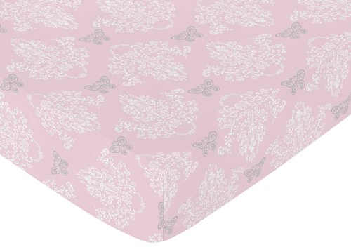 Sweet Jojo Designs Fitted Crib Sheet for Shabby Chic Alexa B