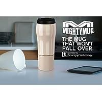 Mighty Mug Go Travel Mug 'The Mug That Won't Fall Over' Thermos 16 Ounce / 0.47Liters (Cream)