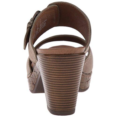 Dansko Élégant Ramona Femmes Diapositives Sandales, Chaussures Élégantes, Mode Taupe Nubuck Fraisé