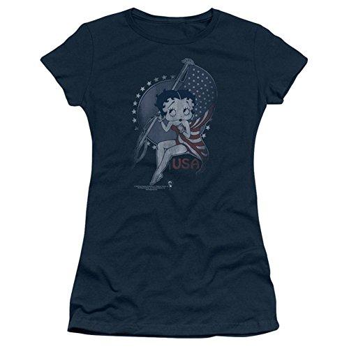 Juniors: Betty Boop-Proud Betty Juniors (Slim) T-Shirt Size M
