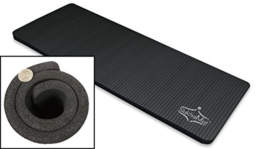SukhaMat Yoga Pilates Exercise Knee Pad • 15mm Thick – 24 Inches Wide • Cushions Pressure Points • Perfect for Ab Roller or Ab Carver – Sit-Ups – Crunches