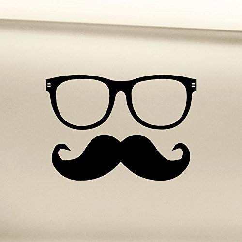 Hipster Glasses and Moustache Vinyl Decal Laptop Car Truck Bumper Window Sticker - - Skrillex Sunglasses