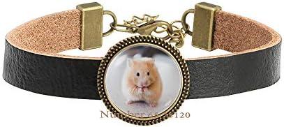 Yijianxhzao Hamster Bracelet Hamster Bangle Hamster Jewelry Hamster Accessories Cute pet Bracelet s Bracelet Animal Jewellery Hamster petBV165