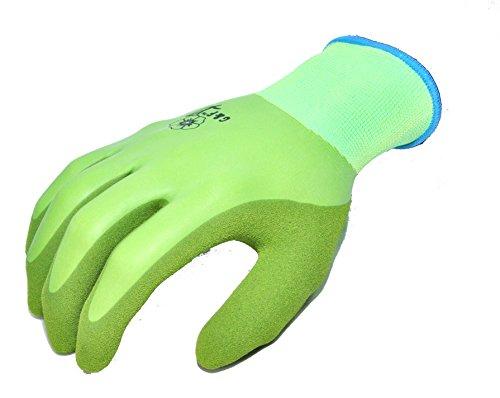 G & F 1537L Women's Waterproof Seamless Knit Garden Gloves with Double Microfoam Nitrile Coating, Large (Waterproof Garden Gloves)