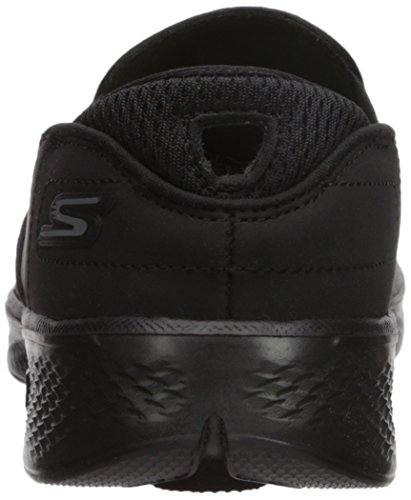 Skechers Kvinders Go Walk 4-afstemt Sneaker Sort gXmshuA