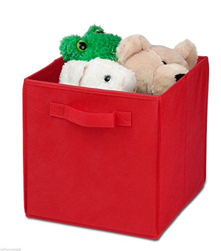 honey-can-do-sft-02089-2-pack-mini-folding-storage-cube-red