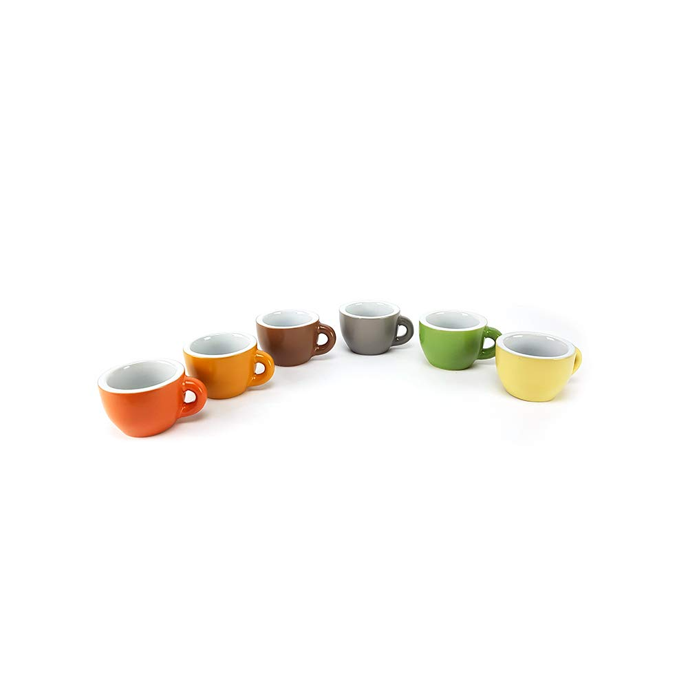 BUYSTAR Set 6 tazzine caff/è Multicolore in Ceramica Set Servizio tazzine Tazze Bicchierini caff/è Espresso Coffee Colorate Stile Shabby Chic tazzine da caff/è