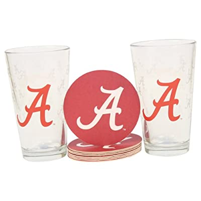 NCAA Pint Glass and Coaster Set (2 Pack)