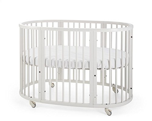 Stokke Sleepi White Adjustable Baby Crib Easily Converts To Toddler Bed