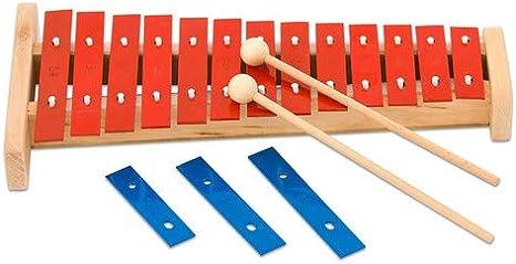 GLOCKENSPIEL 12 Klangplatten Xylophon Xylofon Kinder Musikinstrument Instrument