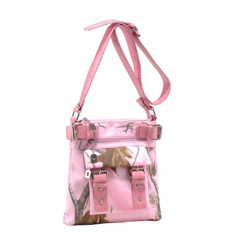 Emperia Women's 8 Pocket Purse with Studded Buckle Embellishments, Realtree Light Pink/Pink, Small ()