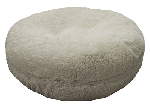 BESSIE AND BARNIE 24-Inch Bagel Bed for Pets, X-Small, Snow White by BESSIE AND BARNIE