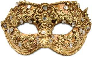 Karneval Venezianische Maske - Colombina macrame oro