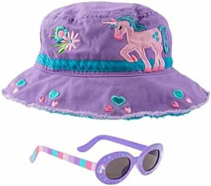 Stephen Joseph Girls Unicorn Bucket Hat and Sunglasses - Purple 39d3dd68753f