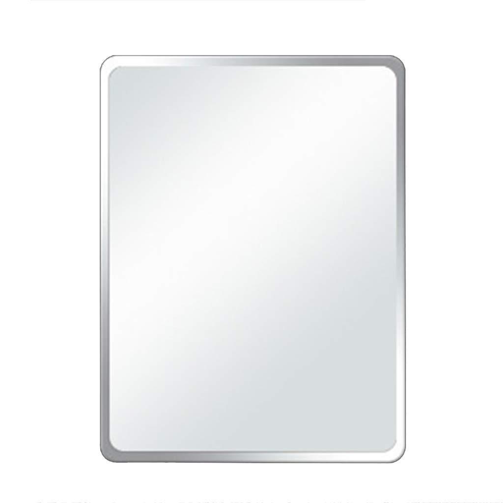 Round Corners 3040cm Bathroom Mirror, Frameless Beveled Rectangle Wall Mirrors, Bedroom, Vanity, Dormitory Simple Rectangular Mirror, Safe Explosion-Proof, Multiple Sizes