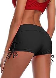 MiYang Women's Swim Boardshorts Beach Pant Bikini Bottom Adjustable Tie Yoga Running Sh