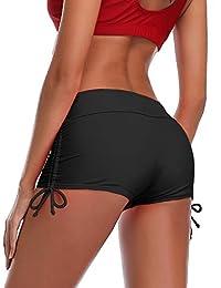 MiYang Women's Beach Pant Bikini Bottom Adjustable Tie Boy Short