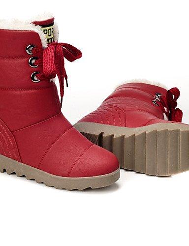 XZZ  Damenschuhe - Stiefel - Kleid     Lässig   Party & Festivität - Kunststoff - Flacher Absatz - Schneestiefel   Modische Stiefel -Braun   B01L1GRD42 Sport- & Outdoorschuhe Britisches Temperament 9ad311