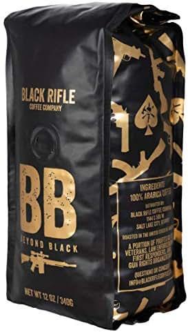Black Rifle Coffee Company Beyond Black Dark Roast Whole Bean Coffee, 12 Ounce Bag