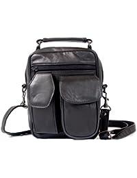 Mylux High Quality Leather Lambskin Multi Pockets Shoulder Bag