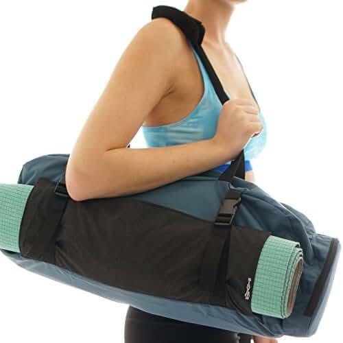 CLOSEOUT Yoga Mat Gym Bag Tote Carryall - Waterproof Bag + Harness Mat Carrier
