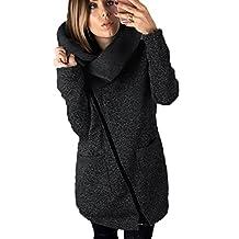 Women Winter Wram Jecket Outwear Wool Coat With Zipper Plus Size