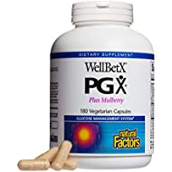 Natural Factors - WellBetX PGX Plus Mulberry, Supports a Normalized Appetite, Metabolism, and Helps Curb Cravings and Maintain Already Healthy Blood Sugar Levels, 180 Vegetarian Capsules