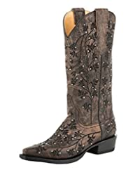 Stetson Western Boots Womens Desiree Snip Brown 12-021-6105-0990 BR