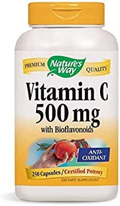 Nature's Way Vitamin C-500 with Rose Hips; 1000 mg per Serving; 250 Capsules (Pack of 2)