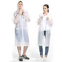 ArunnersTM Raincoats Men Women Waterproof Rainwear Long Rain Poncho With Hood Fruit Color