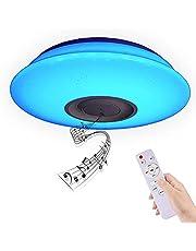 BAGZY Taklampa modern inomhus fjärrkontroll kontrollampa CCT dimbar 2700–6500 K justerbar ljus intensitet 48 W 33 x 33 cm taklampa för sovrum kök matsal badrum