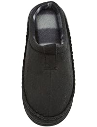 Boys Microsuede Clog Slipper Rugged Outsole