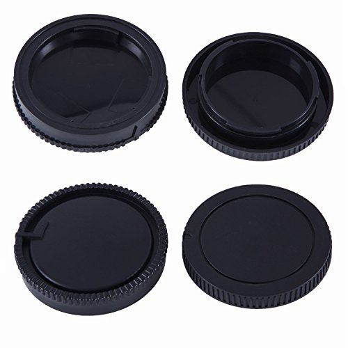 2 PACK - Movo Lens Mount Cap and Body Cap for Sony Alpha DSLR Camera
