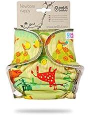 Pañal Petit Lulu Bambú para recién nacido | Broches | Material exterior 95% algodón, 5% elastano | Reutilizable y lavable | Fabricado en Europa Sabana