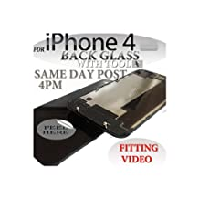 BLACK iPHONE 4S BACK BATTERY COVER GLASS PLATE HOUSING REPLACEMENT WITH OPENING TOOLKIT