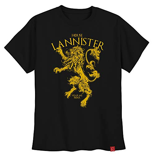 Camiseta Lannister Game Of Thrones Masculina Casas Got GG