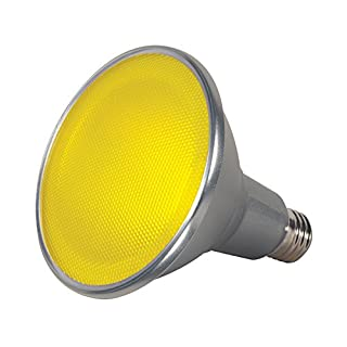 Satco S9484 Par38 LED Yellow 40' Beam Spread Medium Base Light Bulb, 15W