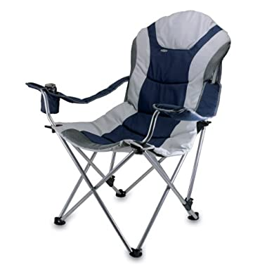 Picnic Time Portable Reclining Camp Chair, Navy
