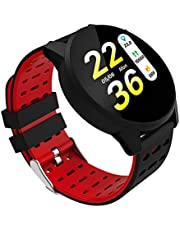 shiYsRL Sports Fitness Tracker Watch Activity Tracker With Heart Rate Sleep Monitor Waterproof Smart Bracelet Pedometer Wristband Smart Watch For Kids Women And Men One Size Red