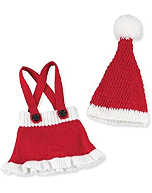 Santa Skirt and Hat Set