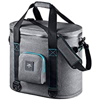 Monoprice Emperor Flip Portable Soft Cooler - 40 Can - Gray | Waterproof Exterior, IPX7-Rated Zippers Ideal for Camping, Fishing, BBQ - Pure Outdoor Collection