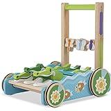 Melissa & Doug First Play Chomp & Clack Alligator Baby Push Toy, Multicolor